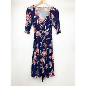 Hello MIZ Floral High Low Maternity Nursing Dress